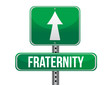fraternity road sign illustration design