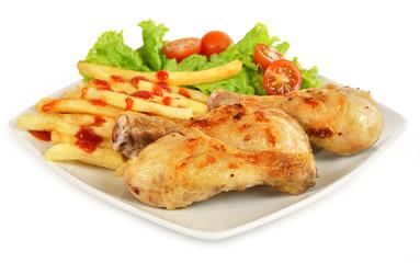 Menú a base de pollo.