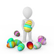 3d person holds the big Easter egg in a hand