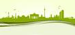 Berlin Skyline Banner grün