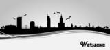 Fototapety Skyline Warschau Banner