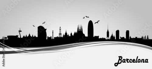 Barcelona Skyline Banner