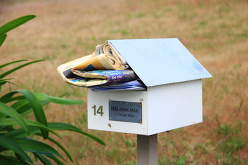 Overloaded mailbox in the suburbs of Australia
