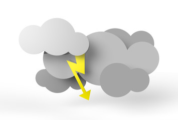 Stylistic thundercloud illustration