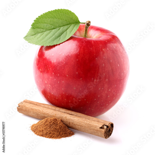 Apple with canelle