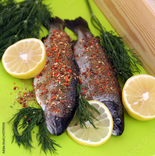 Rainbow trout uncooked