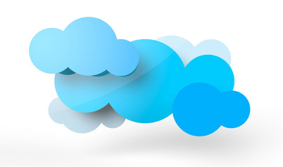 Stylistic clouds illustration