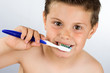Child washing his teeth 5