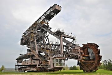 Kohlebagger in einem Tagebau