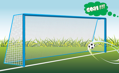 Football goal. Banner for design