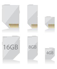 Memory card white