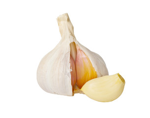Garlic on the white isolated background