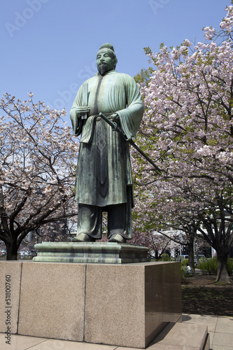 Samurai Figur in Tokio in Japan