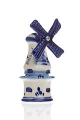 Dutch windmill in blue