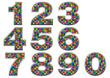 Chiffres multicolores