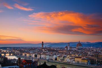 Atardecer en la ciudad de Florencia, Italia