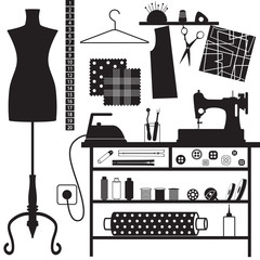 Sewing and tailoring related symbols
