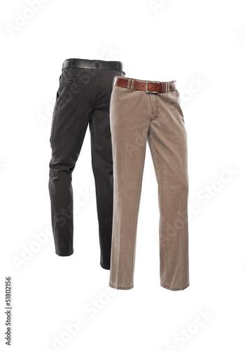2 Hosen freigestellt 2 farben