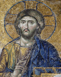 Mosaic of Jesus Christ in Hagia Sophia (Estambul,Turkey)