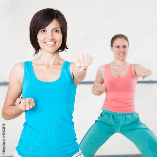 Young Women On Fitness Class