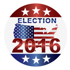 Election 2016 Button Illustration