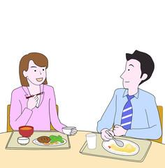 ビジネスマンの食事