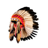 native american indian chief headdress (indian chief mascot, ind