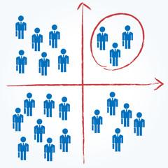 会社員 グラフ 分ける
