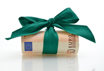 50 Euro mit grüne Schleife