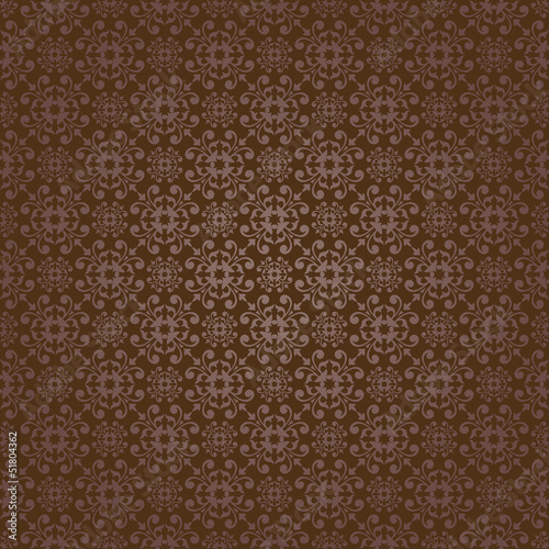 Brown Colors Asian Damask Pattern. Korean traditional Pattern De