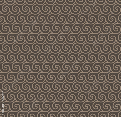 Rosy Brown Colors Wave Pattern. Korean traditional Pattern Desig