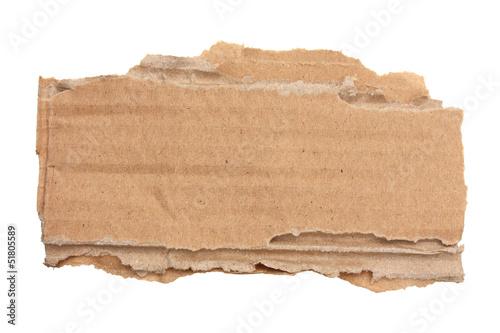 Morceau de carton ondulé