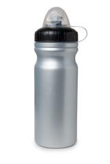 Grey plastic water bottle