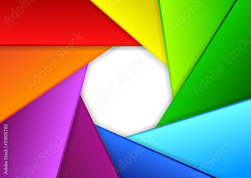 Colorful background in a shape of camera shutter