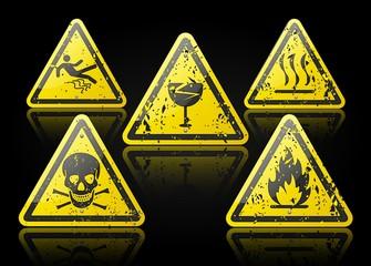 Vector Old Danger Sign
