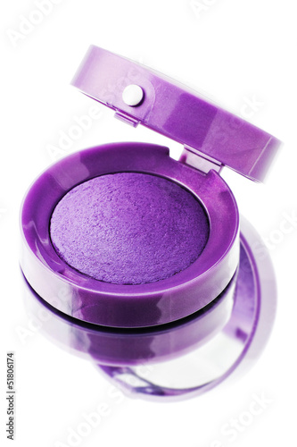 Violet eyeshadow isolated on a white background