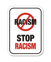 stop racism sign