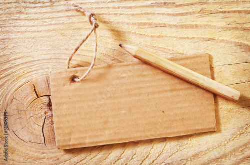 blank on wooden background