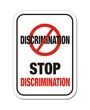 stop discrimination sign