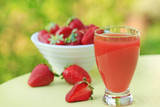 Strawberry juice - healthy smoothie