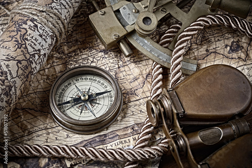 Leinwandbild Motiv vintage marine still life