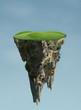 Leinwanddruck Bild - floating island