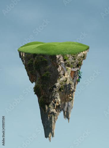 Leinwanddruck Bild floating island