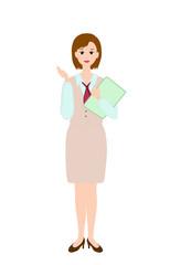 接客する女性社員