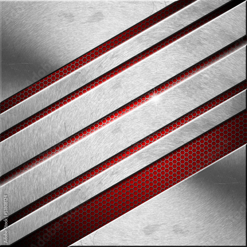 Red and Metal Business Background - Diagonals