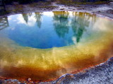 Inside of Morning Glory Pool geyser in Yellowstone