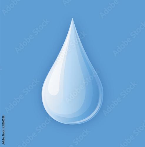 Wassertropfen vor Blau