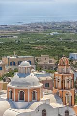 Peach Church Santorini