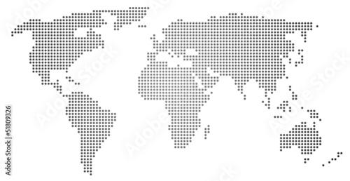Fototapeta Weltkarte
