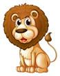 A fat lion